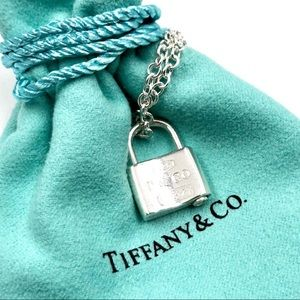 Tiffany & Co Sterling Silver Lock Pendant